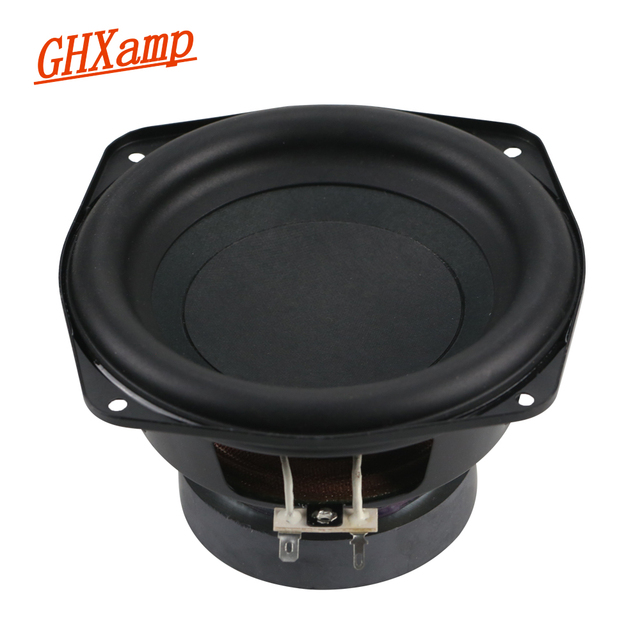 GHXAMP 150MM 6 inch Pure Subwoofer Speaker Unit 4ohm 60W Deep Bass Speakers Home Theater Car Loudspeaker Rubber Edge 1pc
