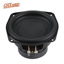 GHXAMP 150MM 6 pouces pur Subwoofer haut parleur unité 4ohm 60W haut parleurs de basse profonde Home cinéma voiture haut parleur bord en caoutchouc 1pc