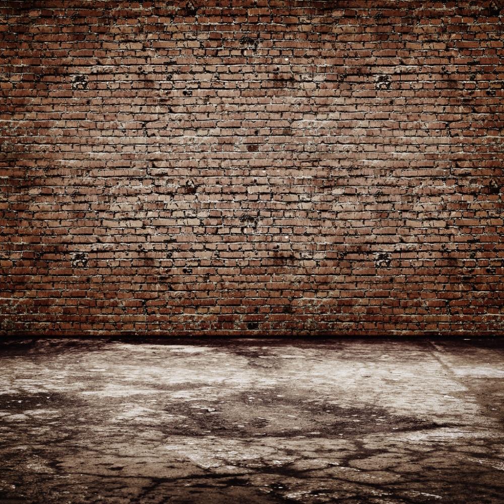 Shengyongbao brick wall wooden floor theme vinyl custom for Nice wallpaper for walls
