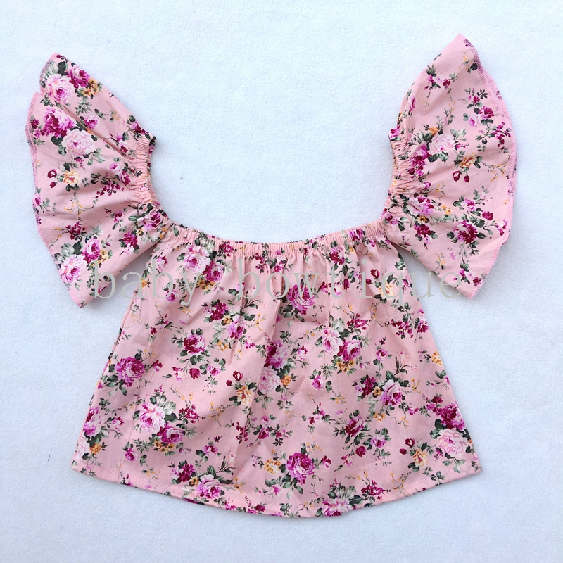 db01dfec208d39 4th of July New Style Off Shoulder Crop Top Shirt for Baby Girls Toddler Top  with headband-in Tees from Mother   Kids on Aliexpress.com