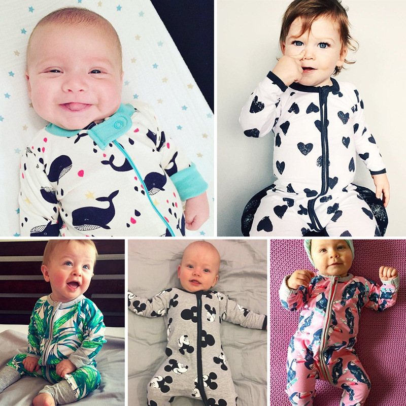 Newborn Baby Boy Gir Clothes Infant Clothing Print Tiny Cottons Autumn Long Sleeve Baby Romper Jumpsuit Costume Onesie  0-24m 6 18m newborn autumn 100% organic cotton rabbit baby boy romper girl rompers bebe clothes infant jumpsuit long sleeve onesie