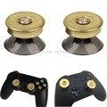 Botões De Bala de Bronze do Metal Real Tiro Thumbsticks Para Dualshock 4 ps4 controlador analógico para xbox one elite s fino Contol