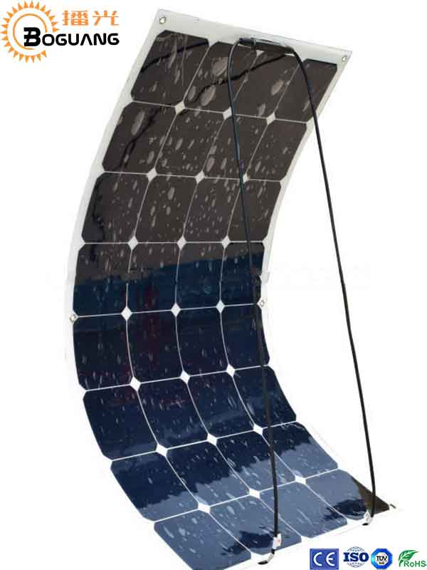 Solarparts 1PCS 100W flexible solar panel 12V solar cell module system RV car marine boat