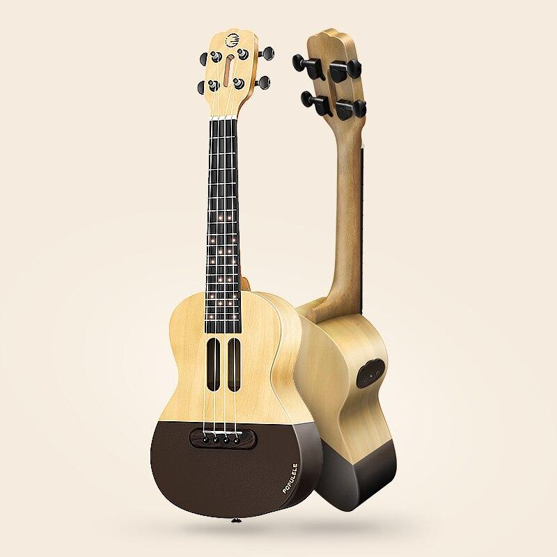 buy populele u1 smart acoustic electric guitar ukulele bluetooth 23 inch app. Black Bedroom Furniture Sets. Home Design Ideas