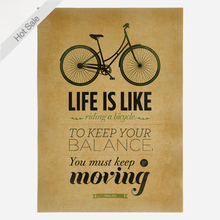 Afiche de bicicleta de papel Kraft clásico de estilo antiguo, carteles Retro para pared, adhesivo para sala, Bar, cafetería, pintura decorativa, BF-014 de 42x30cm