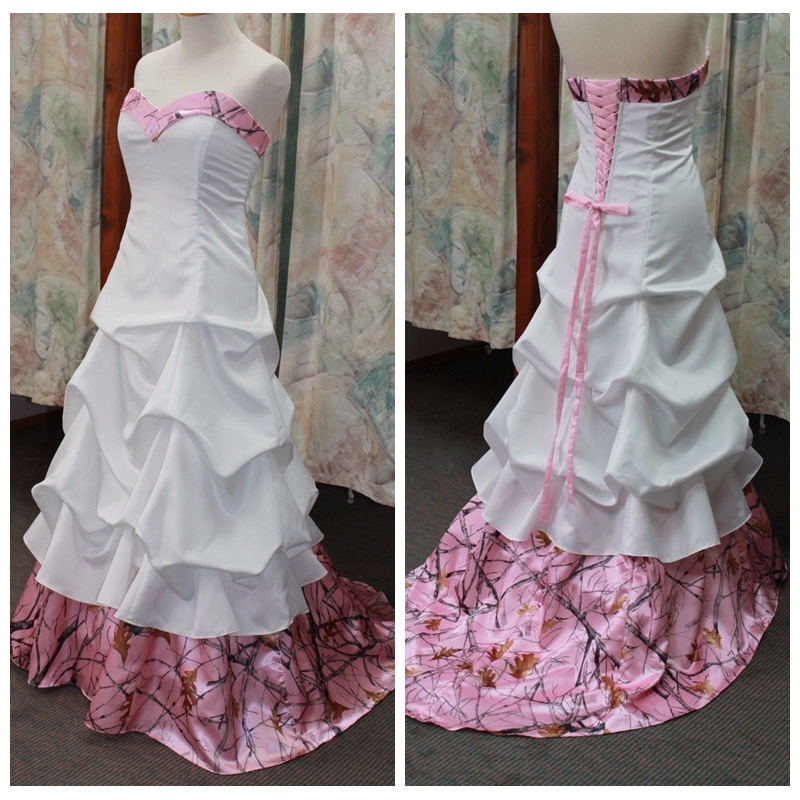 Online get cheap pink camo dress alibaba for Red camo wedding dresses