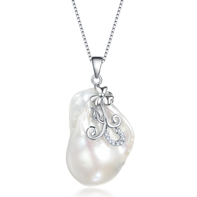 SNH 16-17mm baroque 925 Silver Freshwater Pearl Pendant Necklace Women Natural Pearl Pendants Jewelry snh 36inches baroque 11 12mm aa real freshwater natural pearl necklace women fine necklace jewelry pearl 925 sterling silver