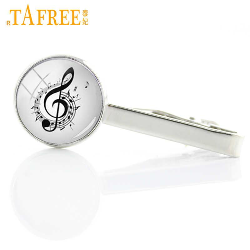 56cfdc4cfba2 TAFREE Promotion fancy musical note Tie Clips men wedding Business stickpin  symphony music Moustache tie pin