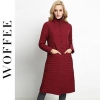 Woffee Brand Thin Down Jackets Women Winter Jackets Parka Autumn Bottom Jacket Cotton Long Thick Warm
