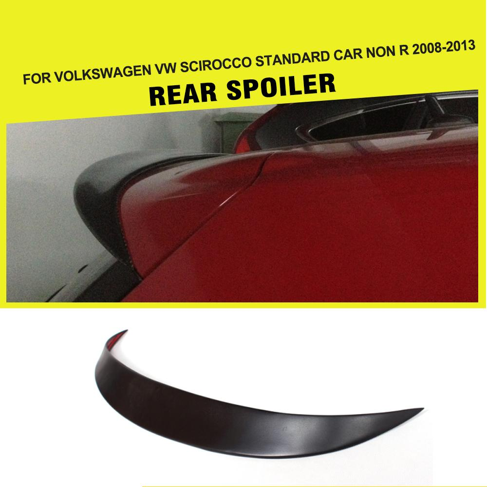 Auto Car Rear roof lip Spoiler Window Wing For Volkswagen VW Scirocco 2008-2013 FRP Unpainted Matt Black Primer