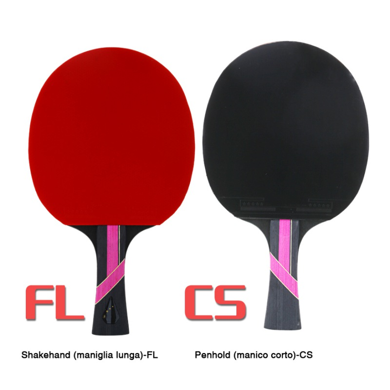 Ball Sports Accessories Table Tennis Racket Double-sided Anti-adhesive Pingpong Horizontal Shot / Long Handle Blade 8