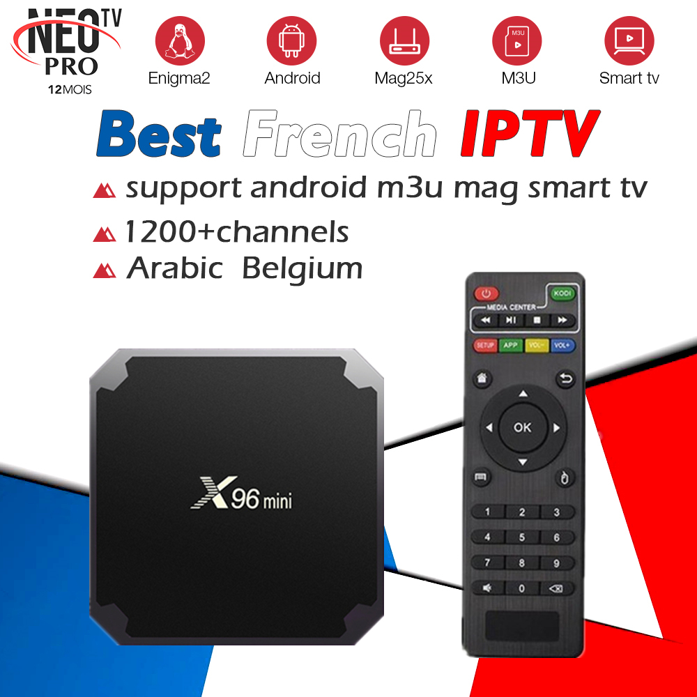 Android TV Box with 1000+ Channels European Europe Arabic French IPTV Code Belgium Live TV Smart TV box for France Belgian Arab french iptv box android tv box with 1year 1300 arabic france iptv belgium code live tv