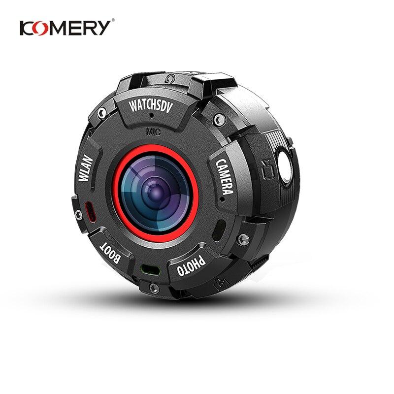 KOMERY Mini Sport Action Camera HD1080P WiFi Waterproof 30M DV 5 pcs wide angle lenses Night