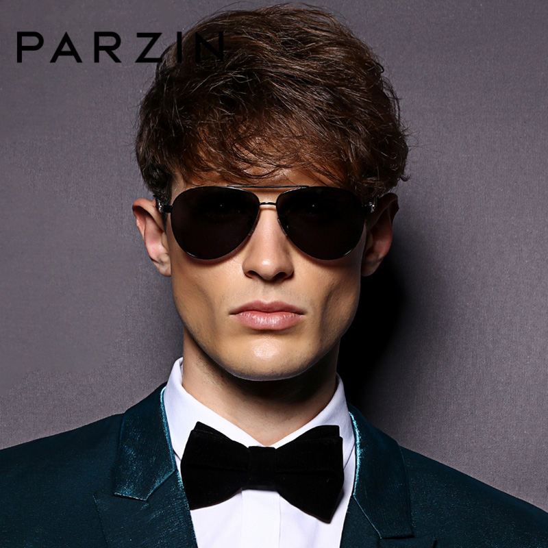 PARZIN Quality Metal Pilot Sunglasses Men Classic Cool Sunglasses Men Summer Polarized Glasses For Driver 8032