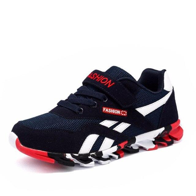 דימי 2019 אביב/סתיו ילדי נעלי בני ספורט נעלי אופנה מותג מקרית ילדים Sneaker חיצוני אימון לנשימה ילד נעליים