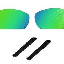 Glintbay Точная посадка изумрудно-зеленые Сменные линзы и черные резиновые носки с ушками для солнцезащитных очков Oakley Jawbone