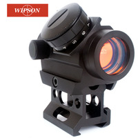 WIPSON 1x22 Cheap Red Dot Scope Red Dot Sight with Riser Picatinny 21mm Mount Intensity Hunting Airsoft