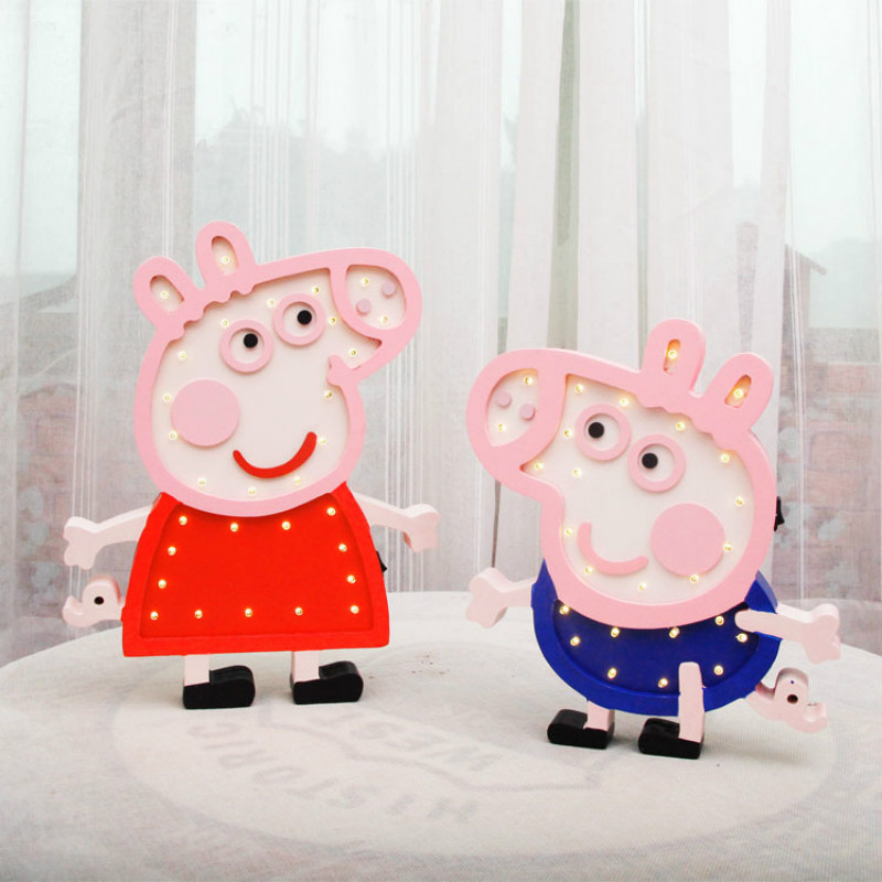 Piggy Piggy Series Cartoon Piggy Peige Georgia Decoración de pared - Iluminación de vacaciones - foto 1