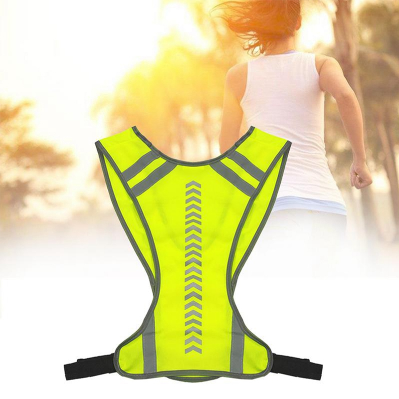 New Reflective Outdoor Cycling Safety Protective Vest Motocycle Harness Night Running Vest Men Women Running Vests
