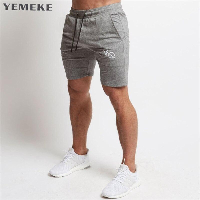 Pantalones cortos de algodón para hombre hasta la pantorrilla gyms Fitness Bodybuilding Casual Joggers entrenamiento marca deportiva pantalones cortos chándal ropa deportiva