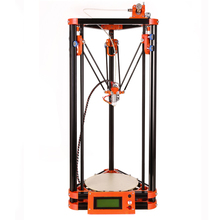 LCD Diy Mini 3d Printer Kits Kossel Delta Printer 3d With Heated Bed and Switch Power