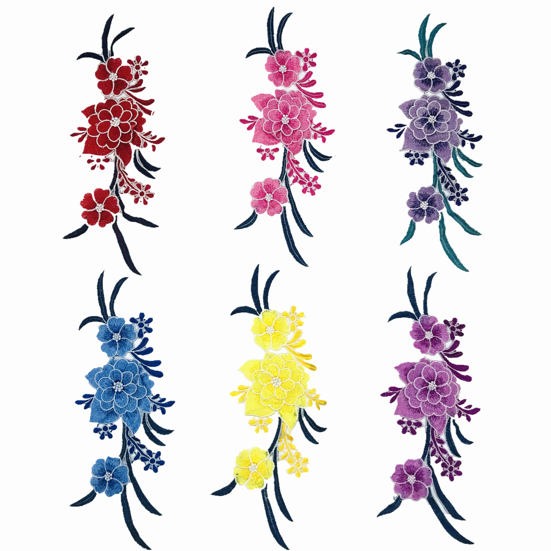 PatchDIY Applique Water Soluble Embroidery  Costume Decoration Dimensional Colorful Decals Applique Accessories