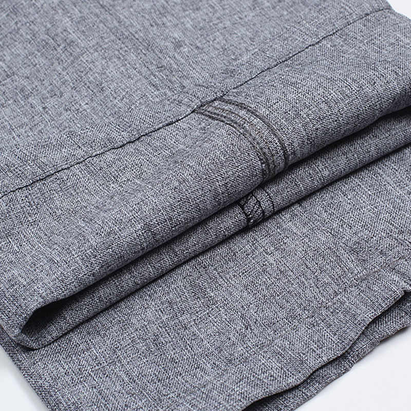300f167c75 ... Summer style men s casual pants middle-aged linen pants mens trousers  high waist loose business ...