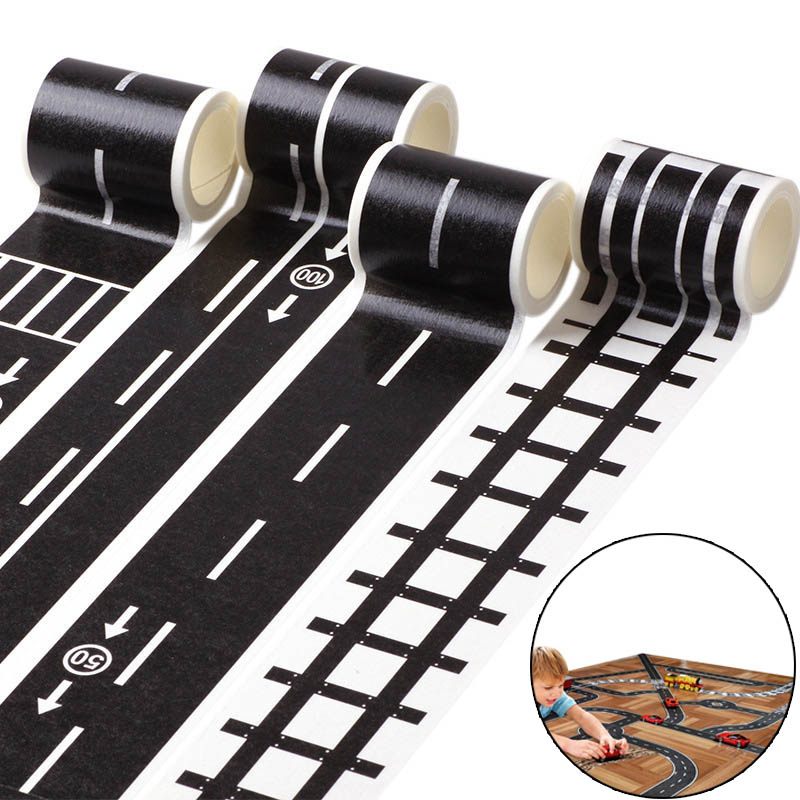 Kids Toy Car Road Adhesive Tape Removable Play Room DIY Track Floor Sticker YH-17