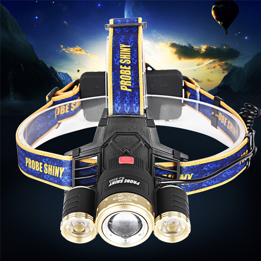 High Quality Zoom 15000LM 3X XM L T6 LED Rechargeable 18650 Headlamp Headlight Light Torch