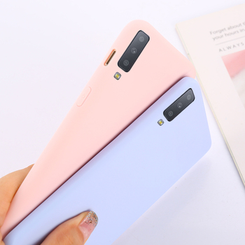 Candy Color Case For Samsung Galaxy S10 A10 A50 A30 A70 A40 A20 A60 A6 A8 A7 2018 S8 S9 Plus Note10 8 9 Silicon Matte TPU Case 1
