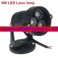 9 Watt FÜHRTE rasen-lampen außenbeleuchtung IP65 Wasserdichte LED Garten Pond Flood Spot Light AC 110 V 220 V