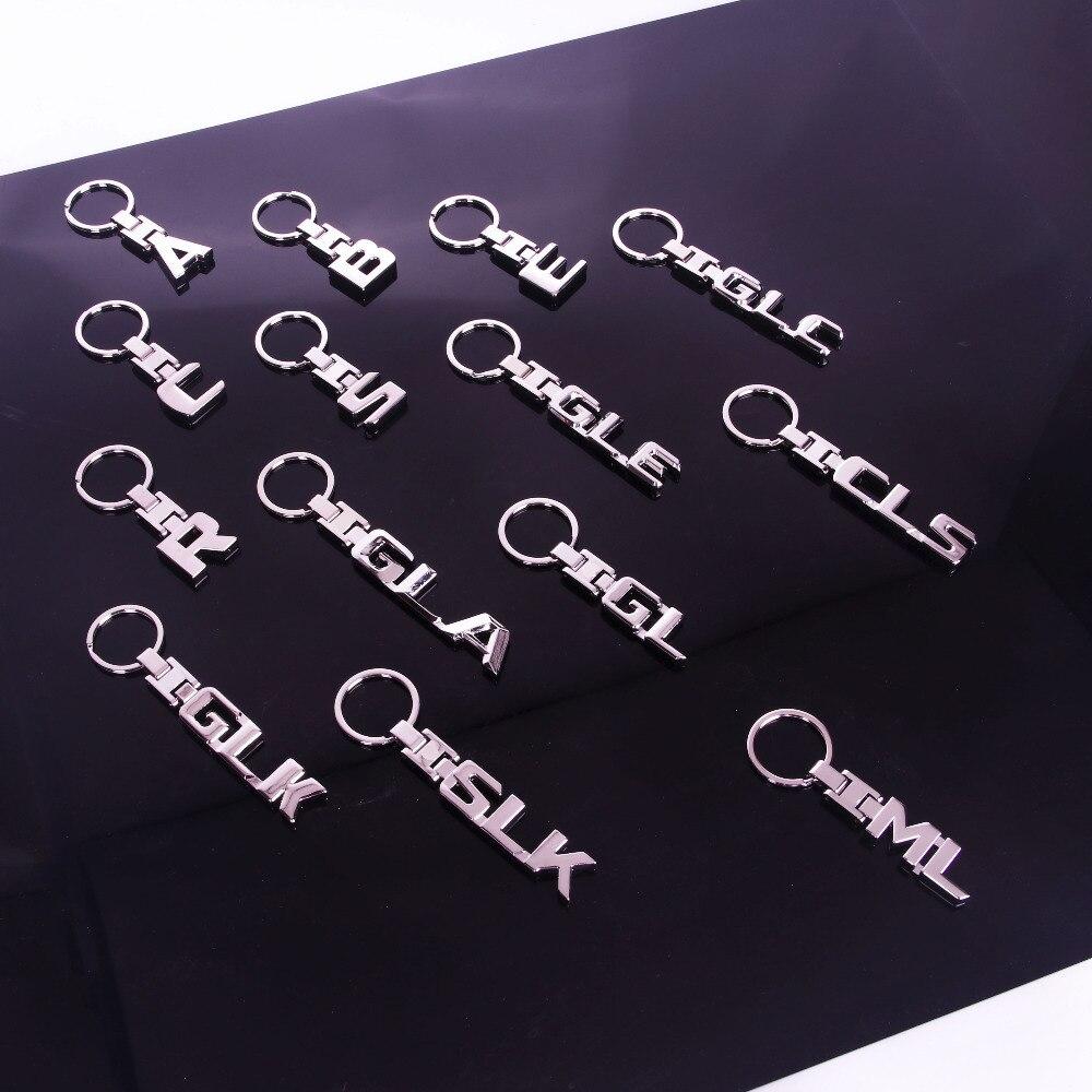 Porte-clés porte-clés en métal   Nouveau pour Mercedes Benz A B C E GL, porte-clés SLK GLK CLS GLC ML AMG 3D, porte-clés de voiture