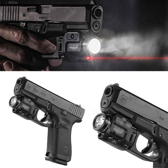 Tactical TLR Compact Weapon Light With Red Laser Sight For Pistol Hunting Glock 1 8 Laser