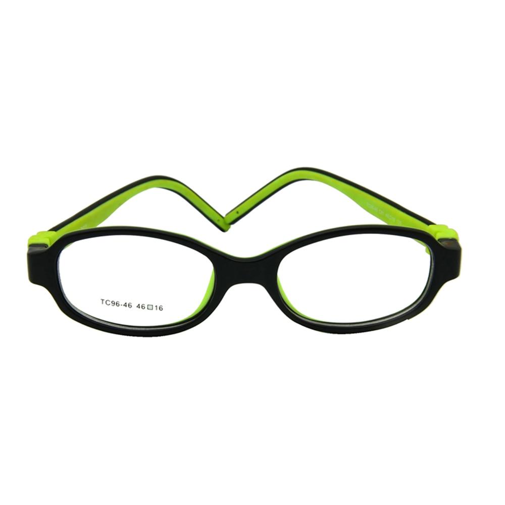 Lastele optilised prillid, suurus 46 - kruvideta painutatavad lasteklaasid Raam Teen TR90 silikoonist elastse raami spordirihm valikuline