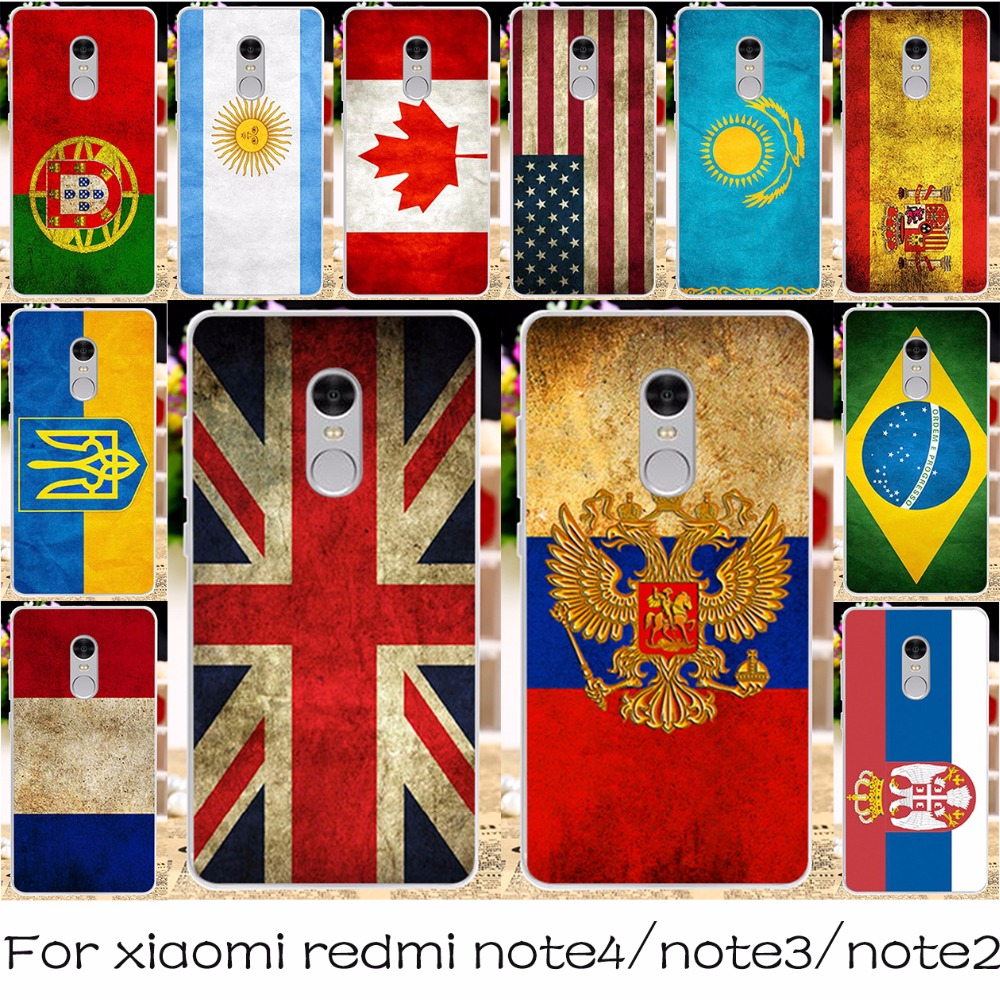Silicon OR Plastic Mobile Phone Case For Xiaomi Redmi Note 3 4 2 Prime Pro Cover Redmi Note3 Note2 Note4 Pro National Flag Shell