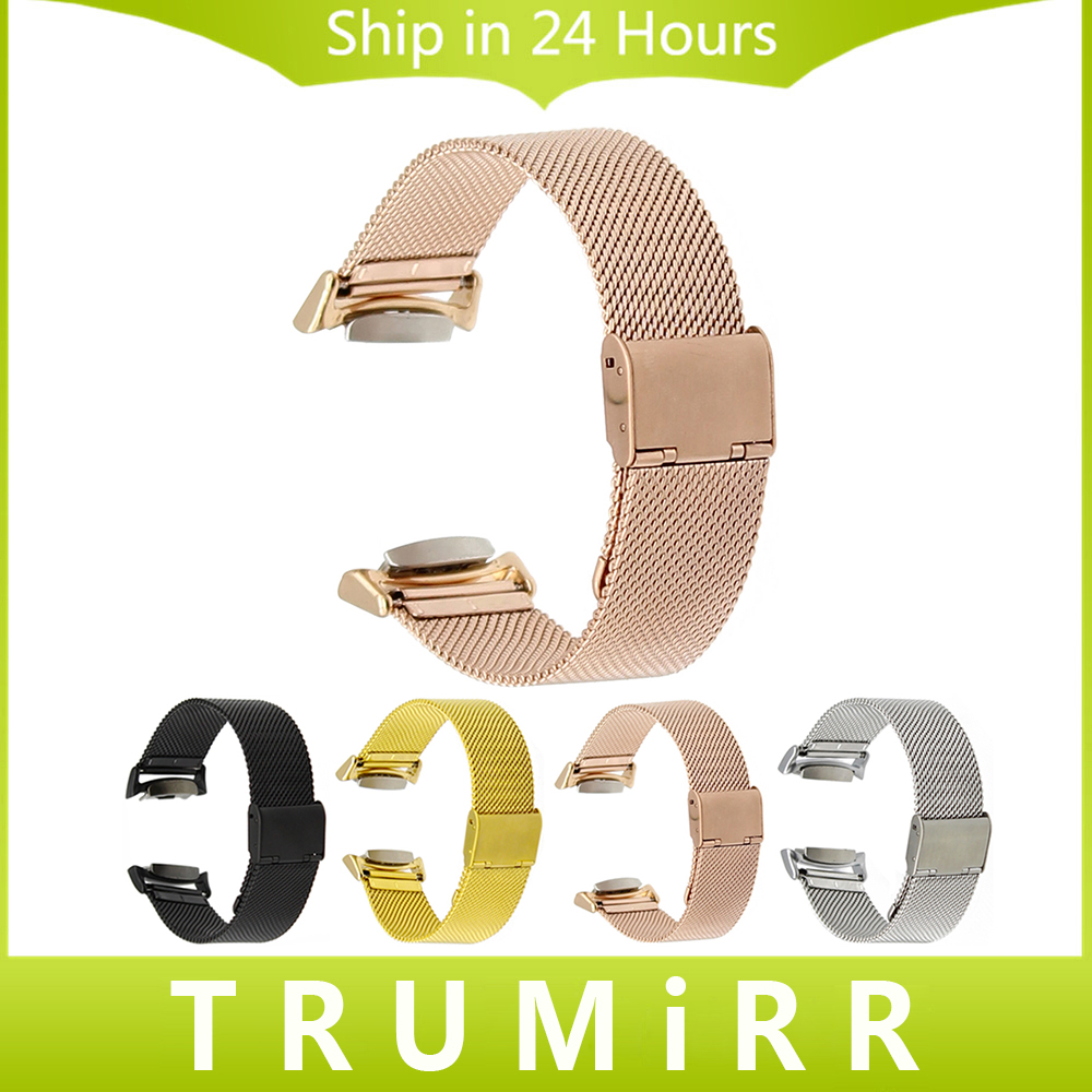 Milanese Watch Band + Adapters + Tool for Samsung Gear S2 SM-R720 / R730 Stainless Steel Strap Bracelet Black Rose Gold Silver gear fit2 watch band gear fit2 stainless steel bracelet strap replacement band wristband for samsung gear fit 2 sm r360