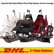 Лепин 22001 имперский военных кораблей + 16006 черный жемчуг корабль + 16009 Месть королевы Анны Пираты серии игрушки Клон 10210 4184 4195