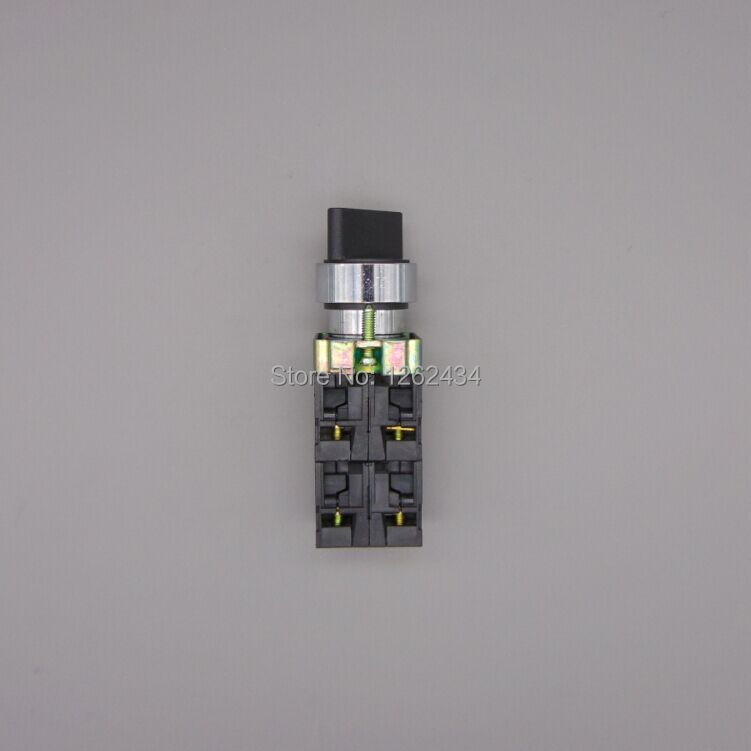 XB2BD53C 2NO 2NC 3 Positions Momentary Select Selector Switch Replaces Telemecanique