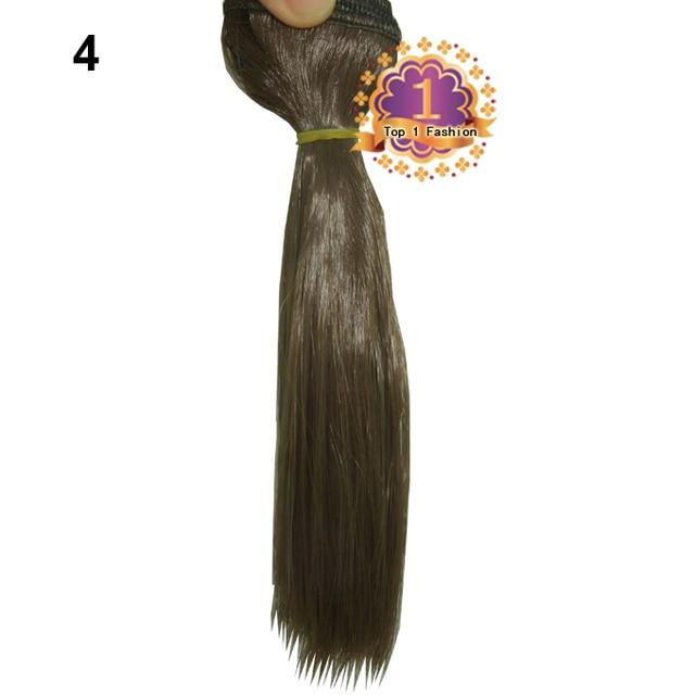 15cm*100CM  curl brown falxen golden black khaki natural color BJD straight Doll Wigs hair for 1/3 1/4 BJD diy