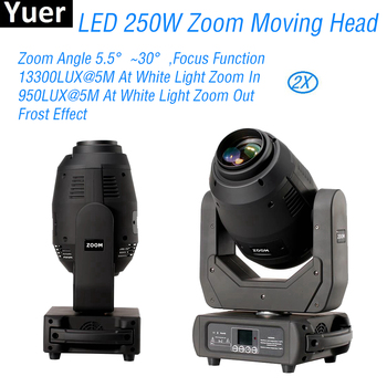 2Pcs/Lot 250W Zoom Moving Head 3in1 Beam Spot Wash Light DJ Disco Party Lights DMX512 Sound Color Music Stage Moving Head Lights 10pcs lot cheap stage light 36 15w 5 in 1 led zoom moving head wash light rgbwy color mixing dmx512 lighting control