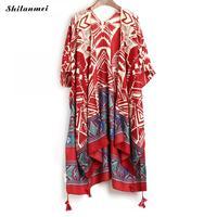 Новый Boho нерегулярные кимоно с принтом кардиган 2019 Лето Для женщин Удобные Свободные блузки богемная блузка Рубашки Длинная Верхняя одежда...
