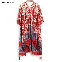 New Boho Irregular Printed Kimono Cardigan 2018 Summer Women Blusas Casual Loose Bohemian Blouse Shirts Long