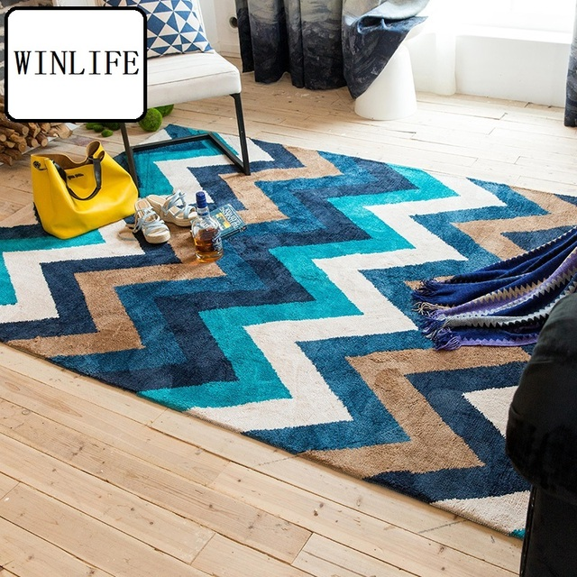 WINLIFE Modern Geometric Carpets Large Area Rugs For Living Room ...