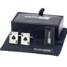 Memolissa классические черные запонки для покера модные мужских