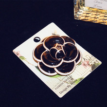 CX-Shirling Brand 3 Colors Camellia Scarf Pin Brooch Clothes Korea Fashion Charm Luxious Quality cc Brooch/Broche Needle