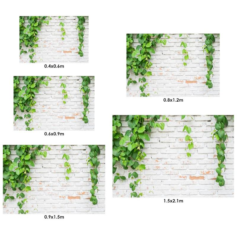 Image 2 - Green Plant Brick Texture Photography Background Cloth Backdrop Photo Decor For Photo Studio-in Background from Consumer Electronics