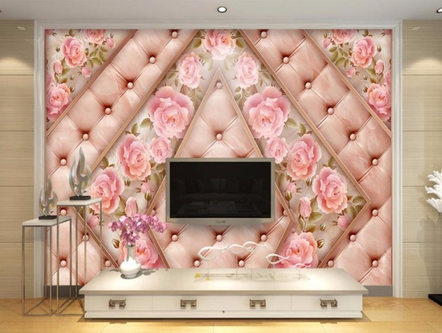 marble Soft Embossed Custom Wallpaper Roll Size TV Background Living ...