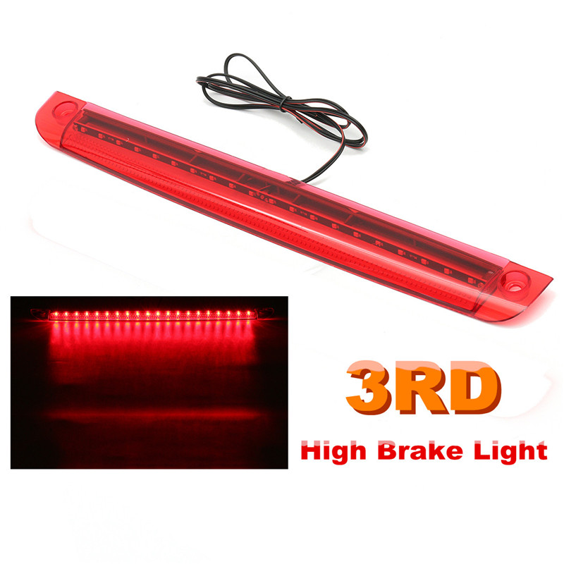 Universal Car LED High Mount Level Motorcycle Tail Light Third 3RD Brake Stop Rear Tail Light Lamp 12V Red 24 led third brake tail light for vehicles dc 12v