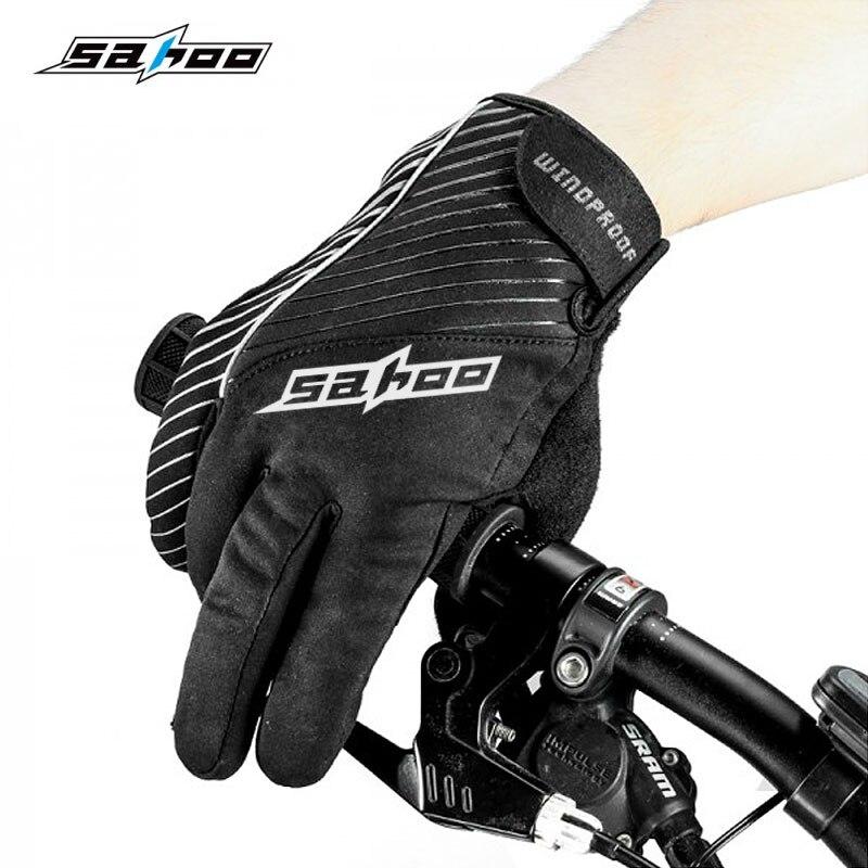Prix pour Nouvelle Hiver Cyclisme Gants Plein Doigt Écran Tactile Vent Preuve bouchon De Gel De Palme Respirant Vélo Unisexe Longue Main Chaud Sahoo 42903