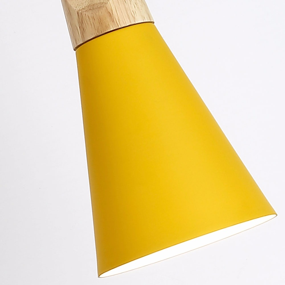 Luzes Pingente madeira colorido sombra de alumínio Marca : Lingstone